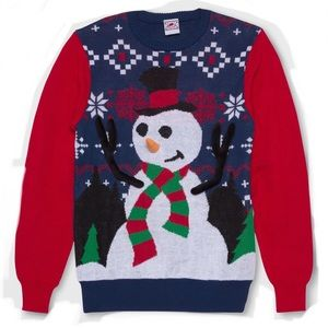 Frosty The Snowman Ugly Christmas Sweater NWT XL
